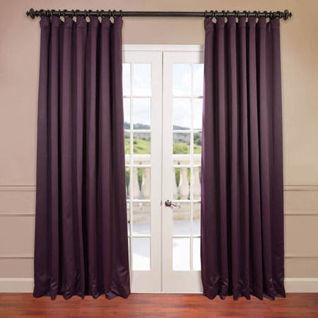 Aubergine Extra Wide Blackout Curtain