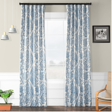 Tea Time China Blue Blackout Curtain