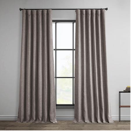 Mink Faux Linen Blackout Curtain