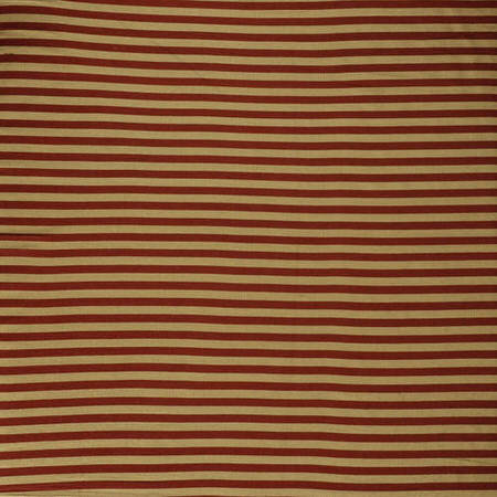 Red & Gold Hand Weaved Cotton Fabric