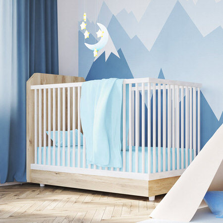 Cotton Jersey Baby Blue Crib Sheets