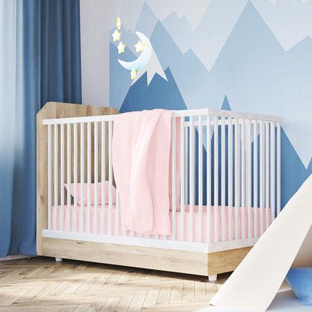 Cotton Jersey Pink Crib Sheets