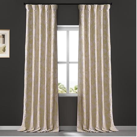 Naomi Embroidered Cotton Crewel Curtain