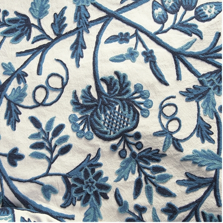 Norway Embroidered Cotton Crewel Fabric
