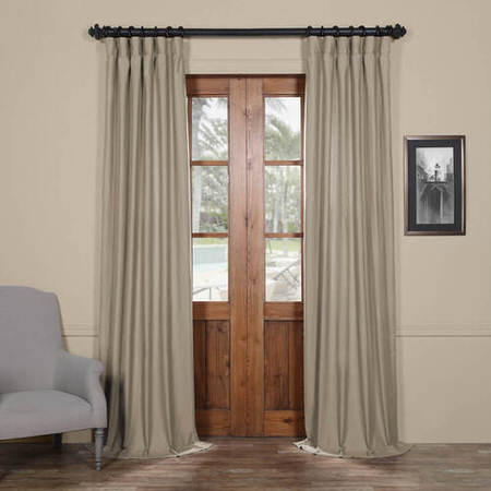 Seal Grey Cotton Linen Blend Curtain