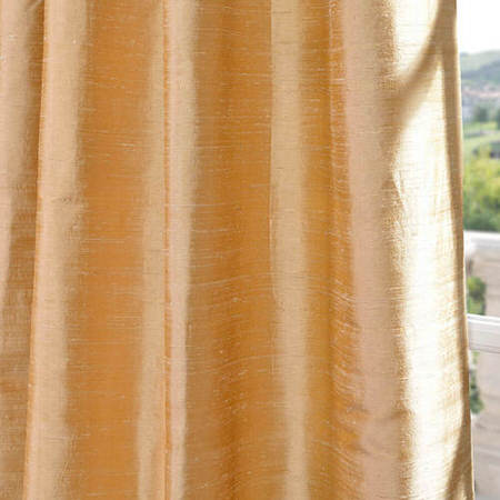 Biscotti Textured Dupioni Silk Fabric