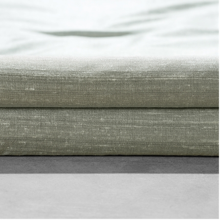 Turbulence Grey Textured Dupioni Silk Fabric