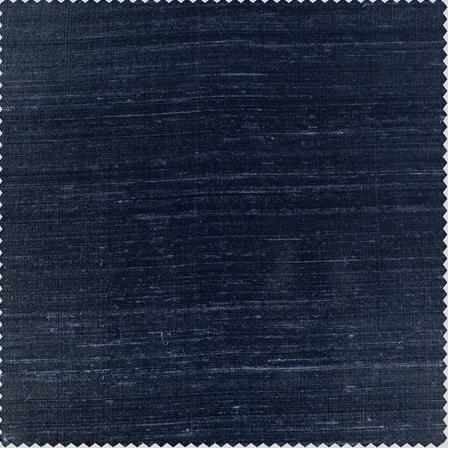 Navy Textured Dupioni Silk Fabric