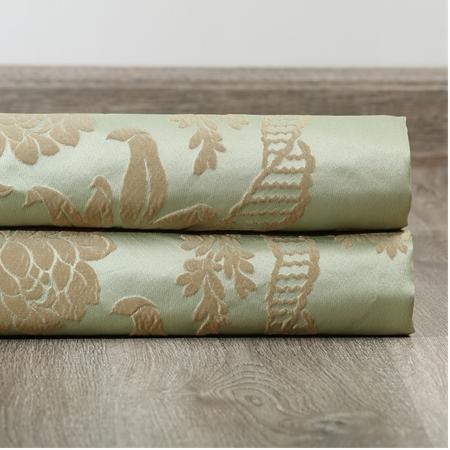 Magdelena Jade & Gold Faux Silk Jacquard Fabric