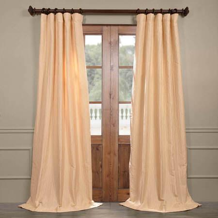 Bjork Creme Faux Silk Jacquard Curtain