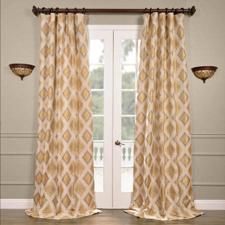 Dahl Multi Faux Silk Jacquard Curtain