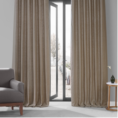 Flax Beige French Linen Curtain