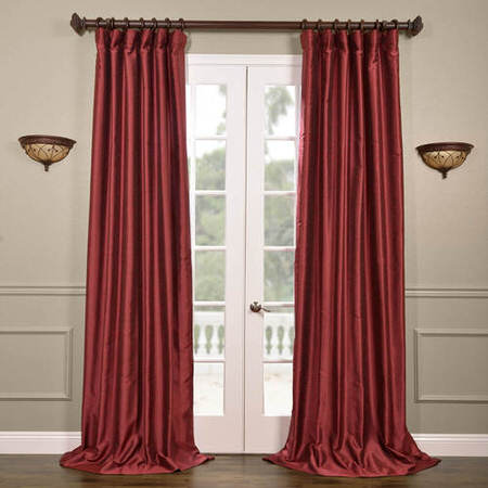 Cherrywood Yarn Dyed Faux Dupioni Silk Curtain