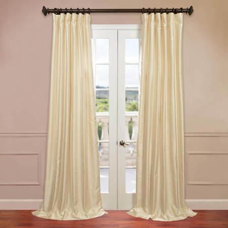 Winter Ivory Yarn Dyed Faux Dupioni Silk Curtain