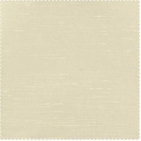 Off White Vintage Textured Faux Dupioni Silk Swatch