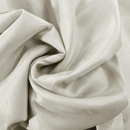 Mist Grey Vintage Textured Faux Dupioni Silk Fabric