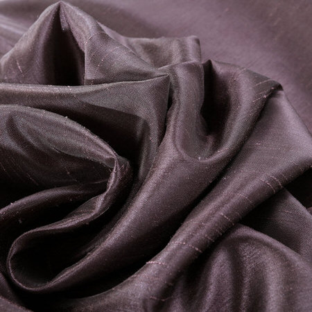 Dark Grape Vintage Textured Faux Dupioni Silk Fabric
