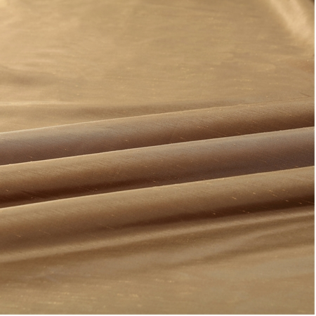 Flax Gold Vintage Textured Faux Dupioni Silk Fabric