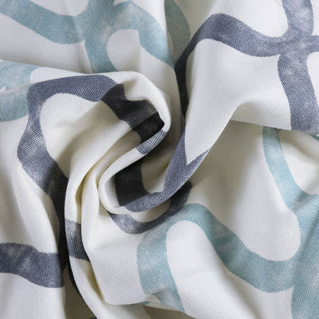 Illusions Blue Printed Cotton Fabric