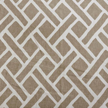 Printed Cotton Fabric, Martinique Taupe Printed Cotton Fabric