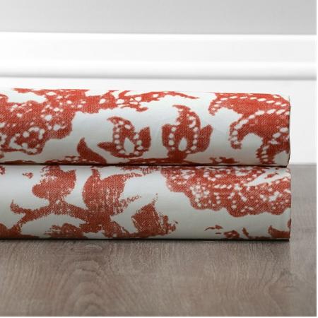 Edina Rust Printed Cotton Fabric