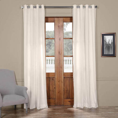 Fresh Popcorn Solid Cotton Grommet Curtain