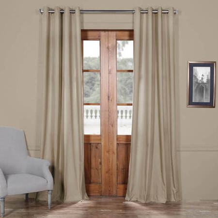 Sandstone Solid Cotton Grommet Curtain
