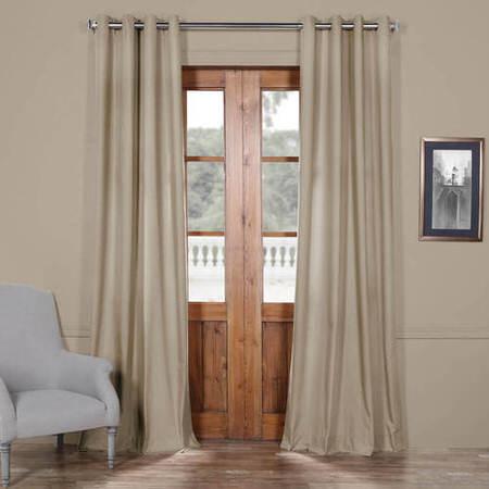Sandstone Solid Cotton Grommet Curtain