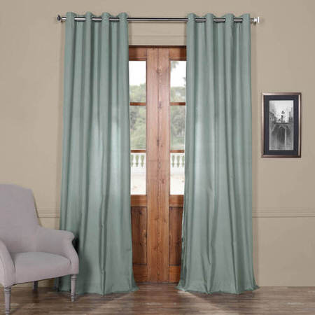 Jasper Stone Solid Cotton Grommet Curtain