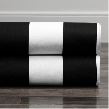 Cabana Black Printed Cotton Fabric