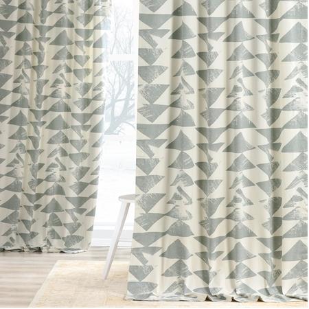 Triad Smoke Printed Cotton Twill Curtain