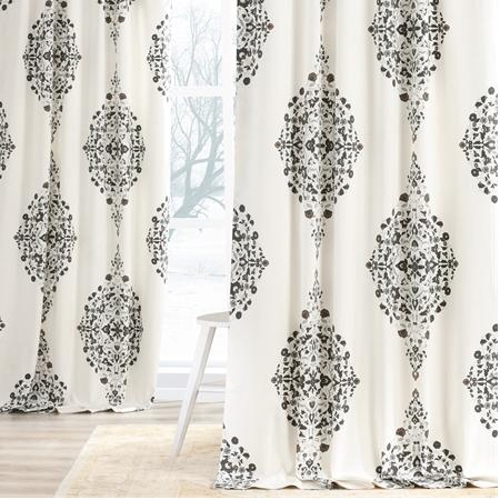 Kerala Cocoa Printed Cotton Twill Curtain