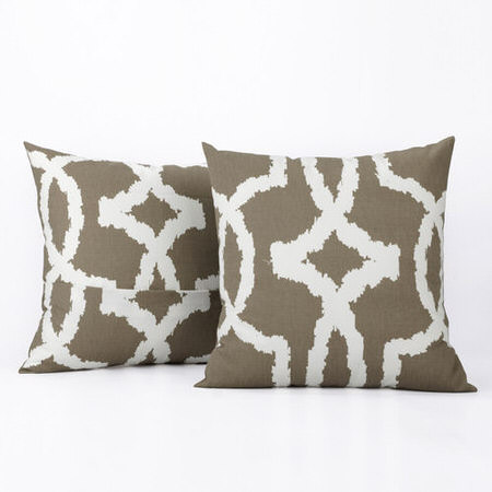 Lyons Birch Printed Cotton Cover- PAIR