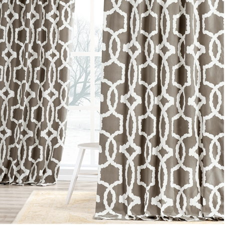 Lyons Birch Printed Cotton Twill Curtain