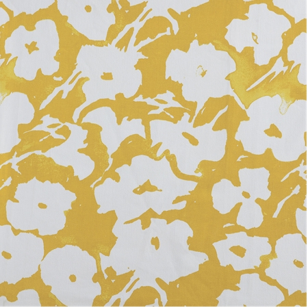 Van Gogh Marigold Printed Cotton Twill Fabric