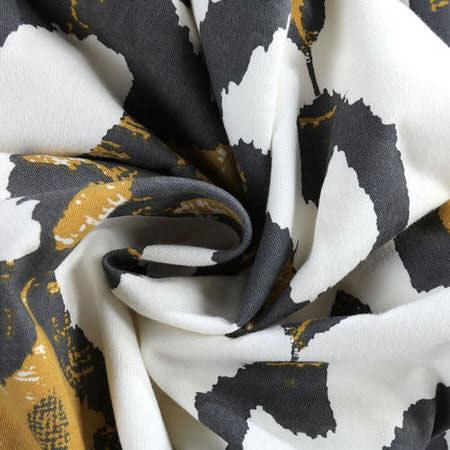 Lumiere Gold Printed Cotton Twill Fabric