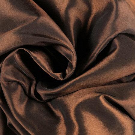 Rum Raisin Faux Silk Taffeta Fabric