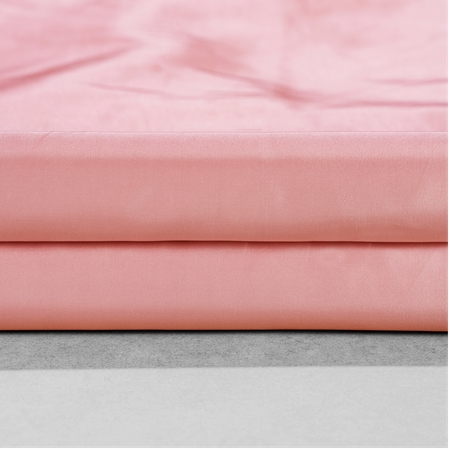Flamingo Pink Faux Silk Taffeta Fabric