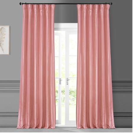 Flamingo PinkÊ Faux Silk Taffeta Curtain