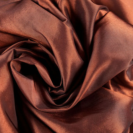 Paprika Faux Silk Taffeta Fabric