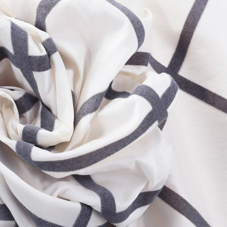 Pavillion Pearl Flocked Faux Silk Fabric