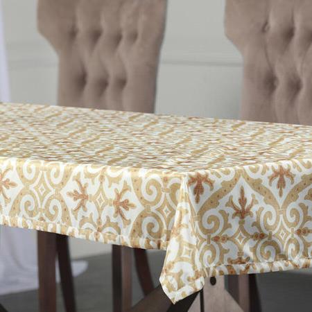Iron Gate Gold Designer Faux Silk Taffeta Table Cloth