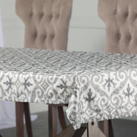 Iron Gate GreyDesigner Faux Silk Taffeta Table Cloth