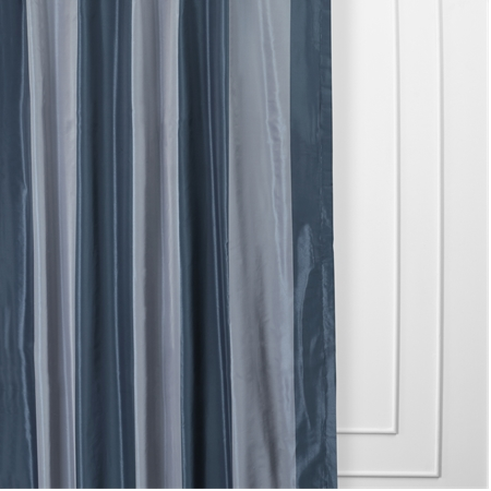 Wimpole Faux Silk Stripe Curtain