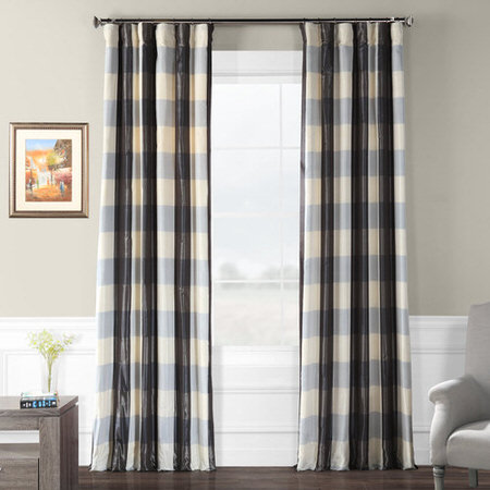 Essex Faux Silk Plaid Curtain