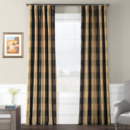 Suffolk Faux Silk Plaid Curtain