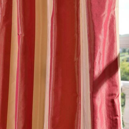 Rialto Faux Silk Taffeta Stripe Fabric