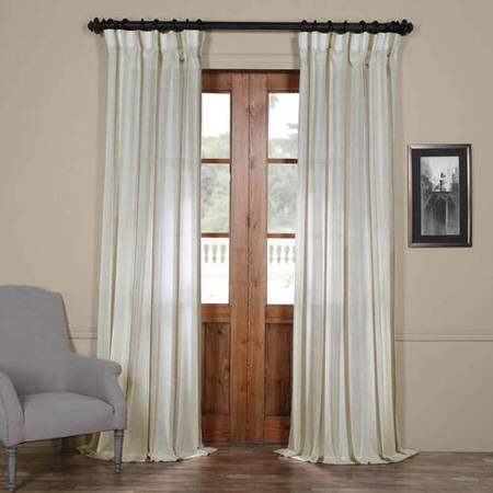 Antigua Gold Striped Linen Sheer Curtain