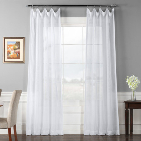 Signature White Sheer Curtain