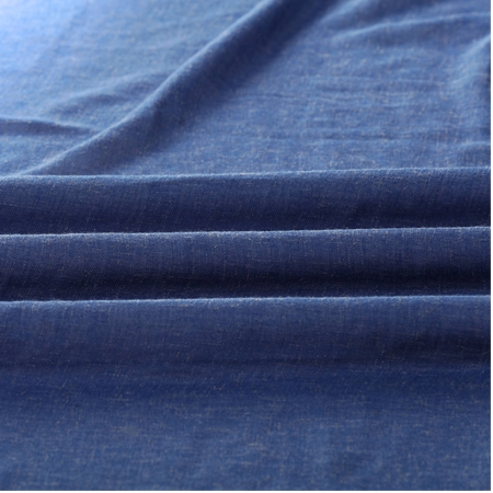 Blue Lapis Faux Linen Sheer Fabric